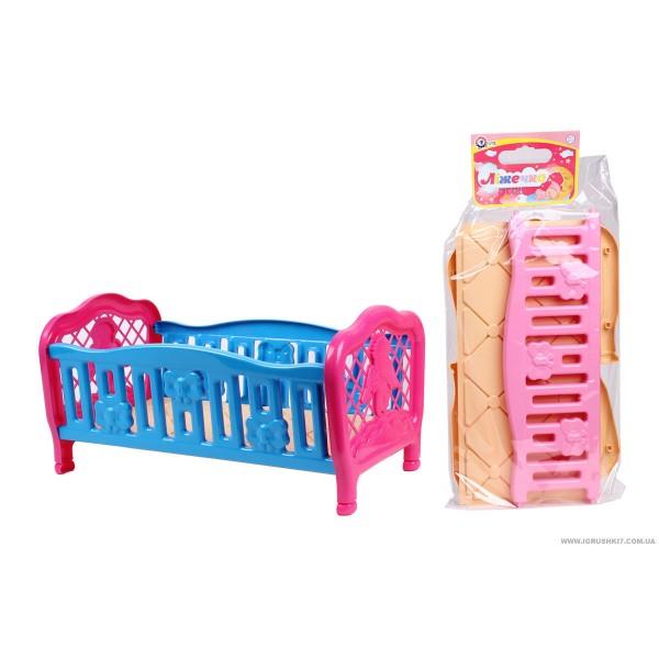 """Кроватка для кукол 4517 (9) 2 цвета """"ТЕХНОК"""""""