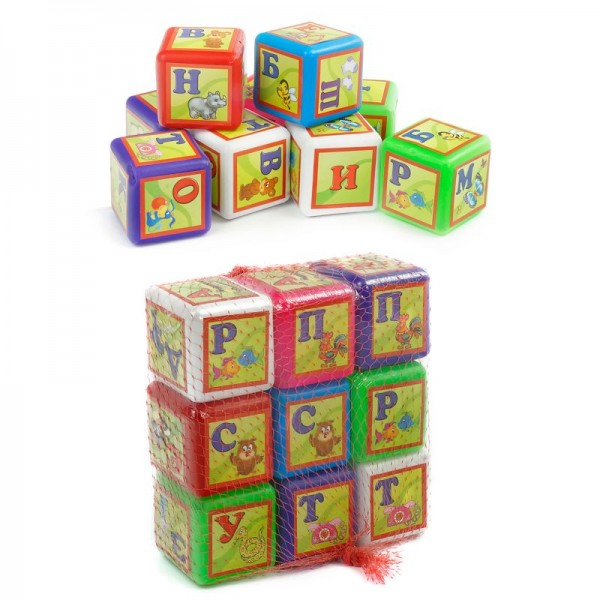 "Кубики ""Абетка"" 9 куб малые 028/1 (24) ""BAMSIC"""