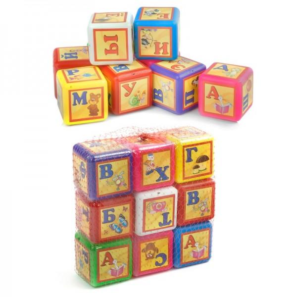 """Кубики """"Азбука"""" 9 куб. малые 028/3 (24) """"BAMSIC"""""""