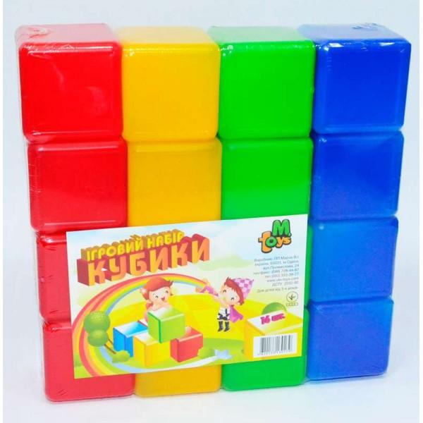 """Кубики цветные 16 шт. (20)  """"M-TOYS"""""""