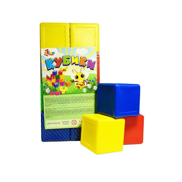 "Кубики цветные 16 шт. Л-002-6 (10) ""MASTERPLAY"""