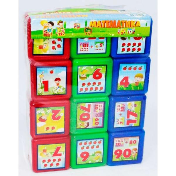"Кубики ""Математика 12 шт"" (24) ""M-TOYS"""