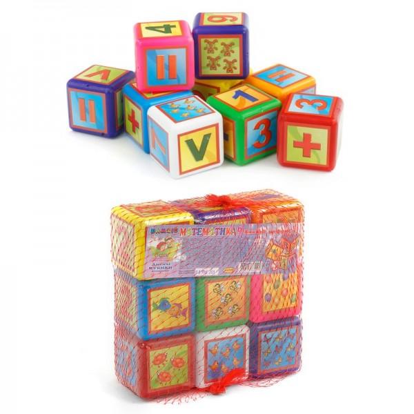 """Кубики """"Математика"""" 9 куб. малые 028/2 (24) """"BAMSIC"""""""