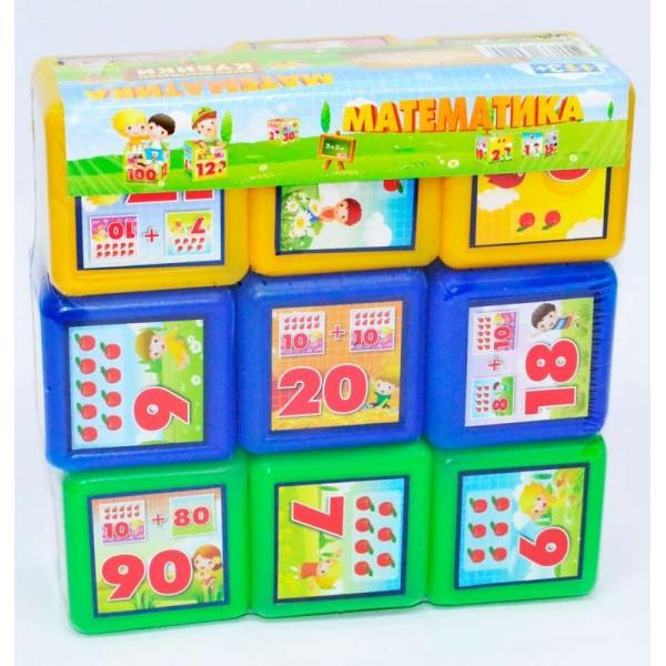 "Кубики ""Математика 9 шт"" (21) ""M-TOYS"""