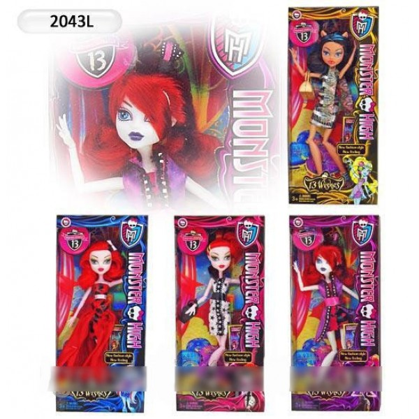 "Кукла ""Monster High"" 4 вида 2043L"