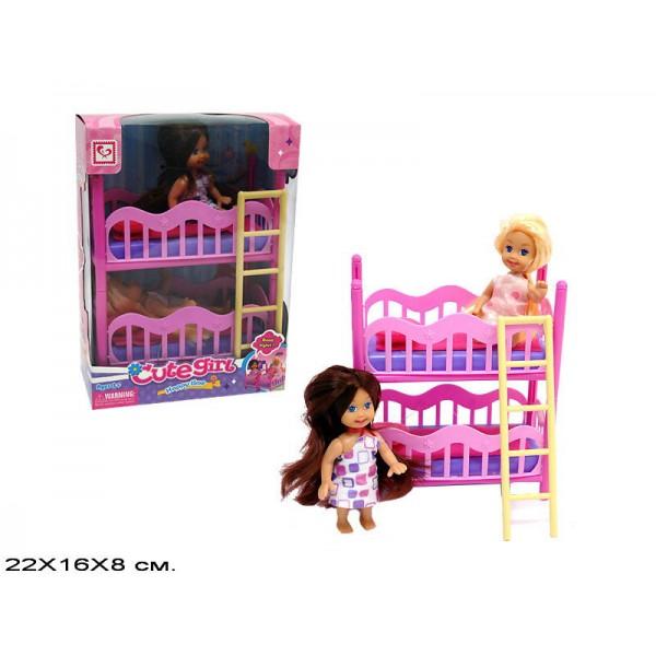 Кукла с кроваткой K899-17