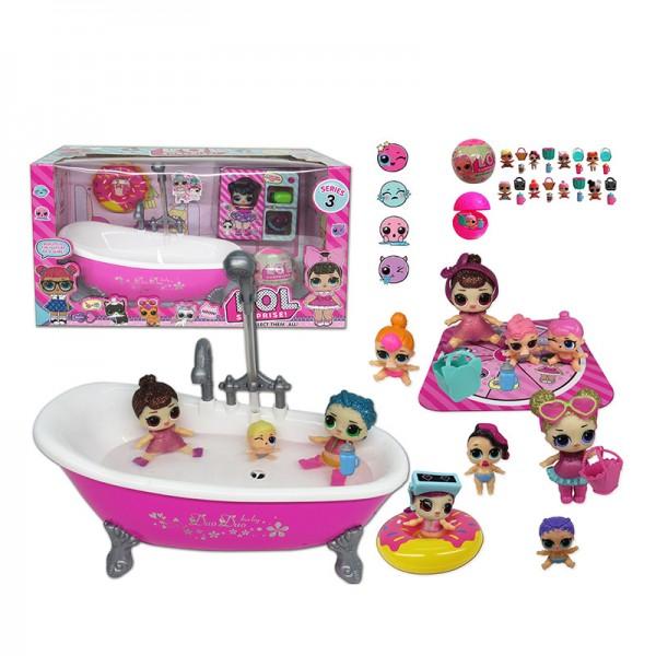Кукла с ванной и аксессуарами TM923