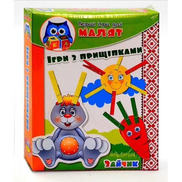 """Малышок. Прищепочки """" Зайка """" /рус/ - VT 1307-04 (20) """"Vladi Toys"""""""