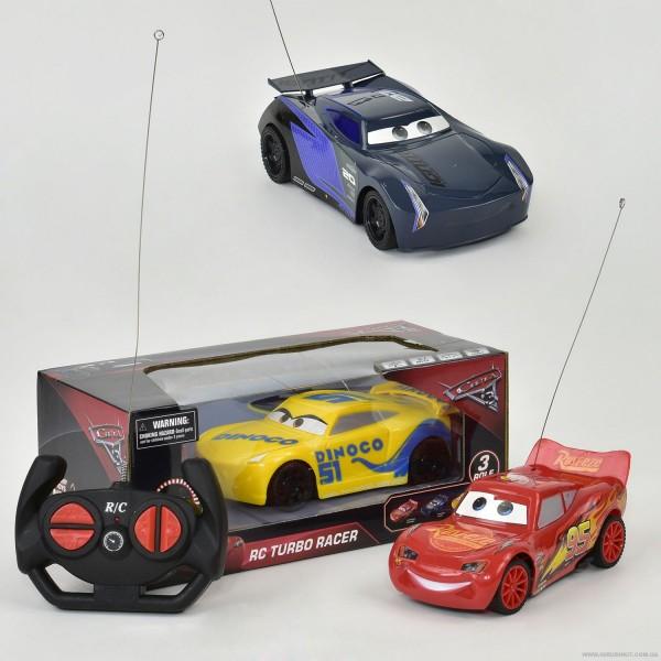 """Машина 17616-43-8-52 """"Тачки"""" (72/2) р/у, 3 вида, работает от батареек, в коробке"""