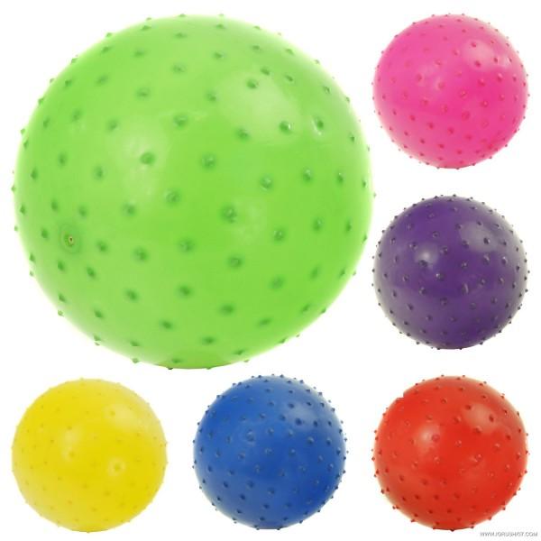 Мяч детский резиновый 466-526 G (500) 60 амм, диаметр - 20 см, 6 цветов