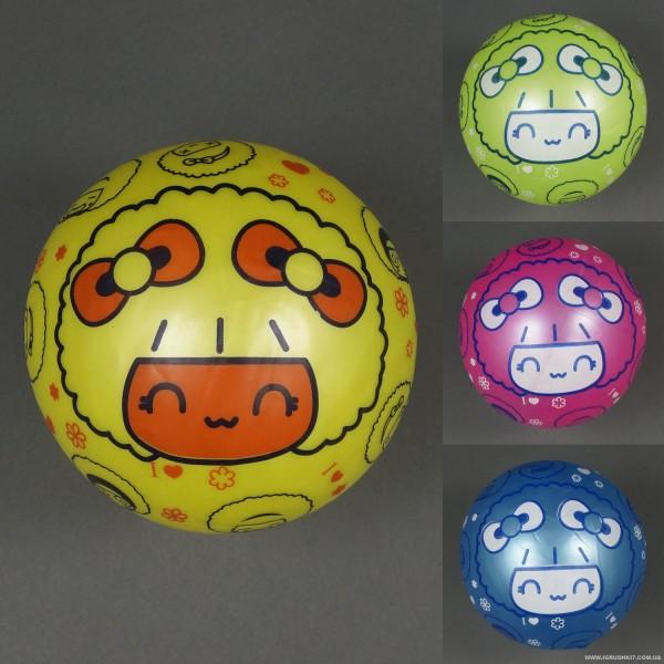 """Мяч детский резиновый 772-449 (400) 60 амм, 4 цвета, размер 9"""""""