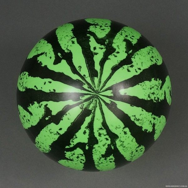 """Мяч детский резиновый 772-544 (600) """"Арбуз"""" 40 амм, размер 6"""""""
