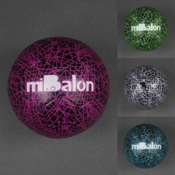 Мяч футбольный 772-438 (50) материал PU, 400-420 амм, баллон с ниткой, 4 цвета
