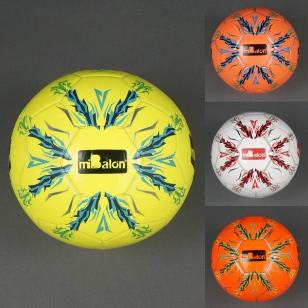 Мяч футбольный 772-439 (50) материал PU, 400-420 амм, баллон с ниткой, 4 цвета