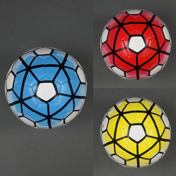 Мяч футбольный 772-443 (60) 380-400 амм, 32 панели, 3 цвета, мягкий PVC