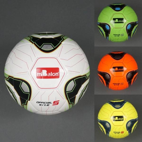 Мяч футбольный 772-444 (50) 4 цвета, 400амм, материал TPU, баллон с ниткой