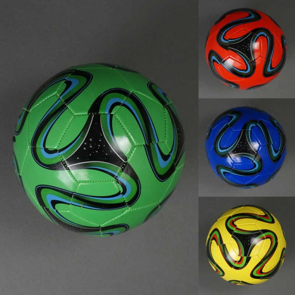 Мяч футбольный 779-252 (100) материал PVC, 260-280 амм, 32 панели, 4 цвета, размер №5