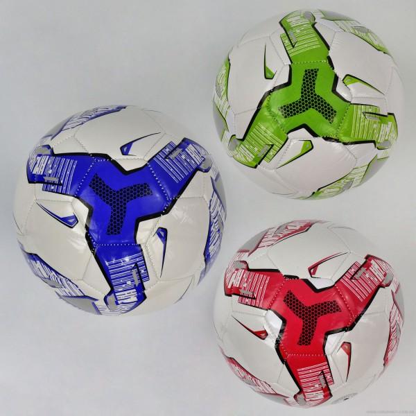 Мяч футбольный 779-625 (60) мягкий PVC, 3 цвета, 310-330 амм, резиновый балон, размер №5
