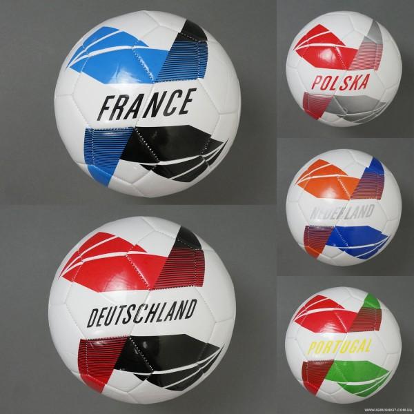 Мяч футбольный 779-830 (60) мягкий PVC, вес 310-330 амм, 5 видов