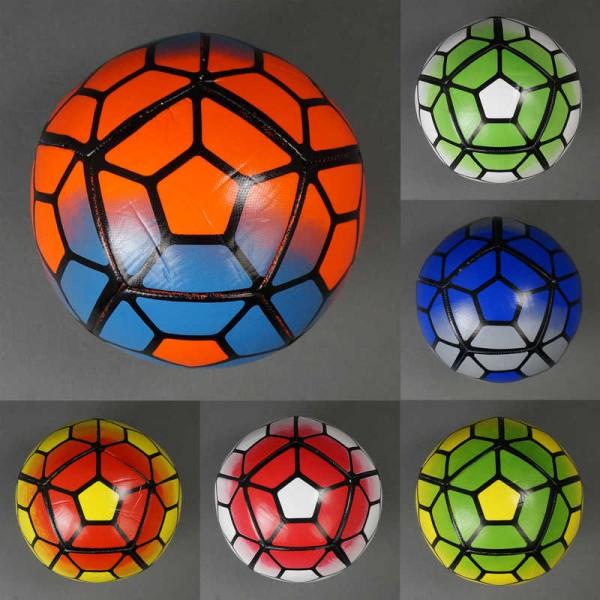 Мяч футбольный 779-834 (60) мягкий PVC, вес 400-420 амм, баллон с ниткой, 6 цветов