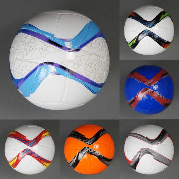 Мяч футбольный 779-837 (60) мягкий PVC, вес 310-330 амм, 32 панели, 8 цветов