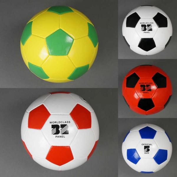 Мяч футбольный 779-839 (100) материал PVC, вес 260-280 амм, 32 панели, 5 цветов, размер №5