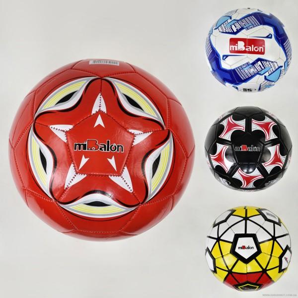 Мяч футбольный F 21950 (100) 4 вида, 270-280 амм, материал PVC