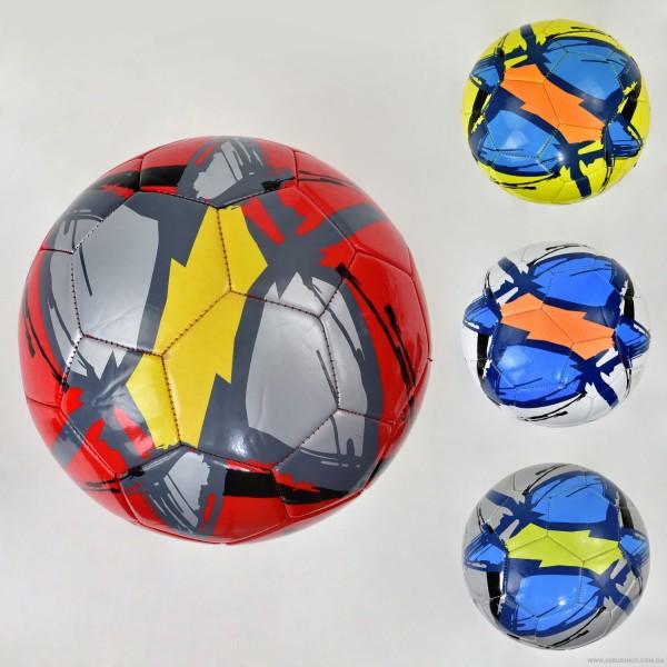 Мяч футбольный F 21953 (60) 4 цвета, 340 амм, материал мягкий PVC