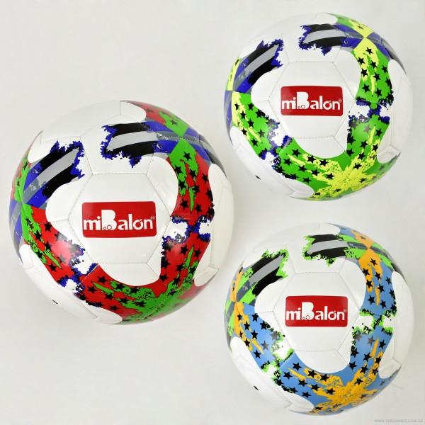 Мяч футбольный F 21958 (50) 3 цвета, 420-440 амм, материал ТPU