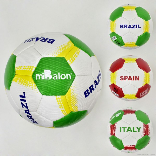 Мяч футбольный F 21959 (50) 3 вида, 380-400 амм, материал TPU