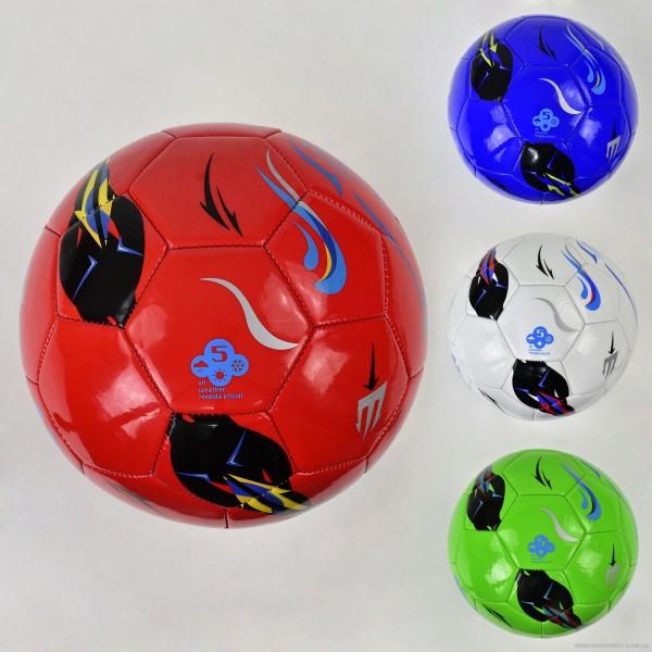 Мяч футбольный F 21961 (60) 4 цвета, 350 амм, материал мягкий PU