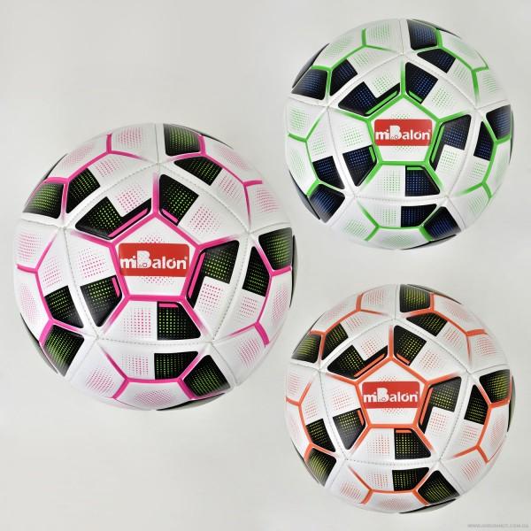Мяч футбольный F 21963 (60) 3 цвета, 410-420 амм, материал PU