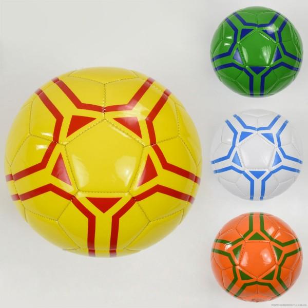 Мяч футбольный F 22059 (60) 4 цвета, 260-280 амм, размер №5