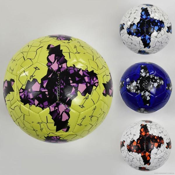 Мяч футбольный F 22063 (60) 4 цвета, 260-280 амм, размер №5 ВЫДАЕМ МИКС