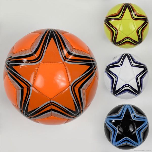 Мяч футбольный F 22064 (60) 4 цвета, 260-280 амм, размер №5  ВЫДАЕМ МИКС