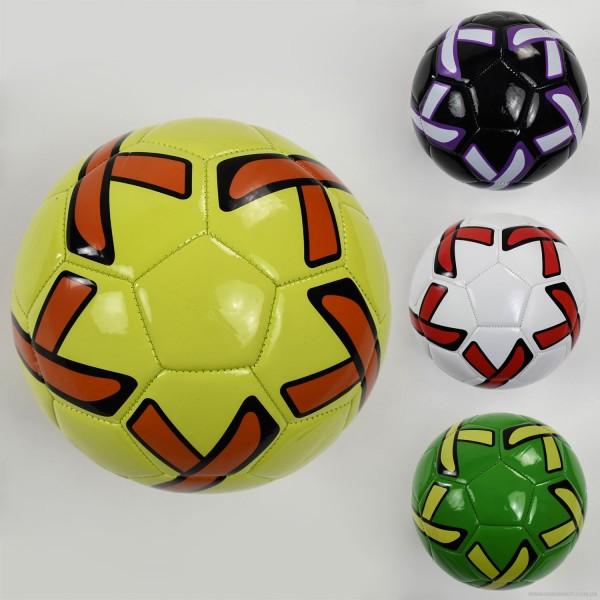 Мяч футбольный F 22066 (60) 260-280 амм, размер №5 ВЫДАЕМ МИКС