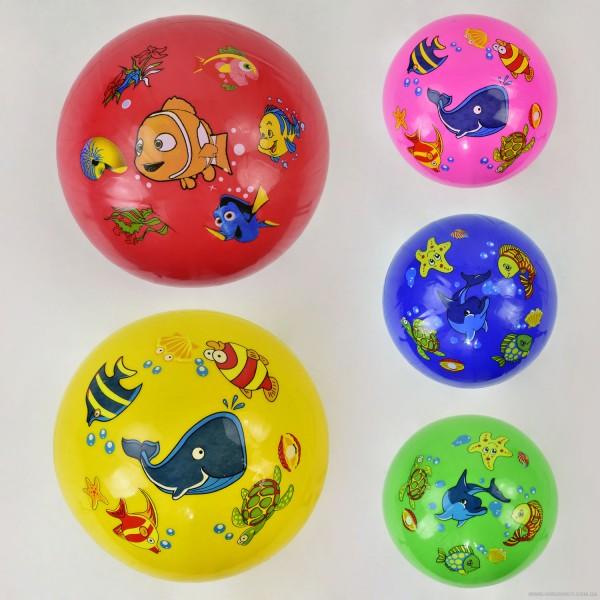 """Мяч резиновый F 22028 (400) размер 9"""", 70 амм """"Рыбки"""""""