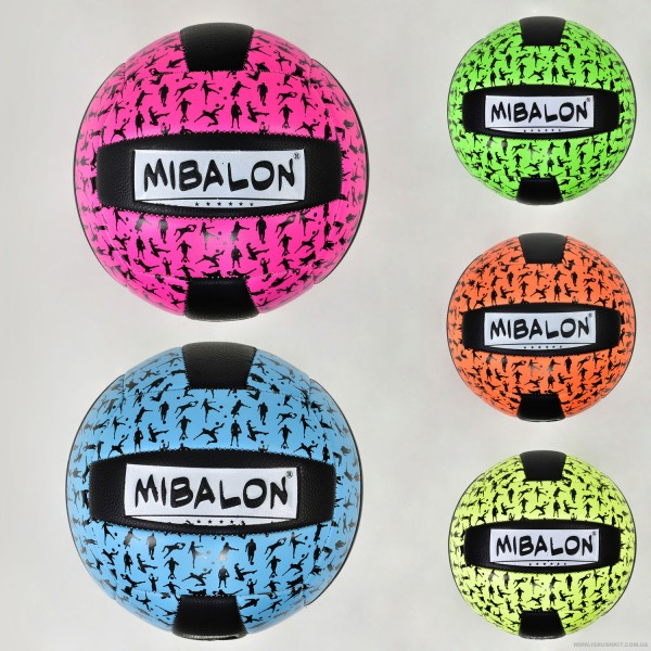 Мяч волейбольный F 21945 (60) 5 цветов, 270 амм, материал PU