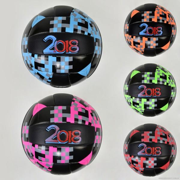 Мяч волейбольный F 21948 (60) 5 цветов, 270 амм, материал PU