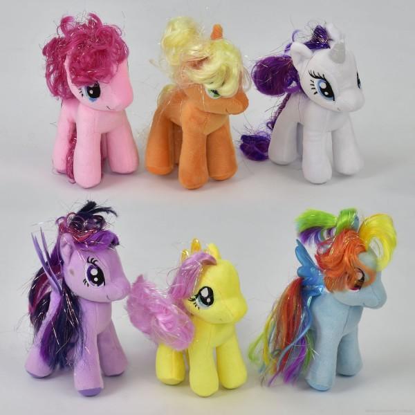 """Мягкая игрушка N 00036 """"Пони"""" (240) 6 цветов"""