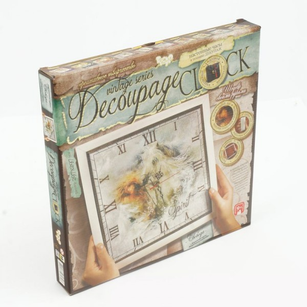 "Набор ""Часы"" ""Decoupage clock"" с рамкой (10) ""ДАНКО ТОЙС"""