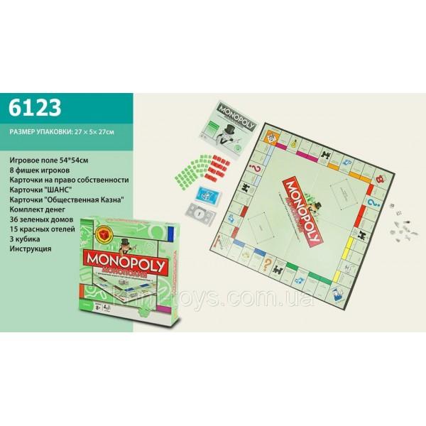 """Настольная игра """"Монополия"""" 6123"""