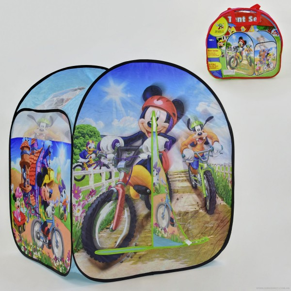 "Палатка А 999-174 (36) ""Микки Маус"", домик, в сумке"