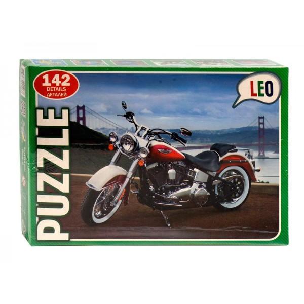 """Пазлы 142 эл. """"Мотоцикл"""" 068-9 (12) """"LEO"""""""