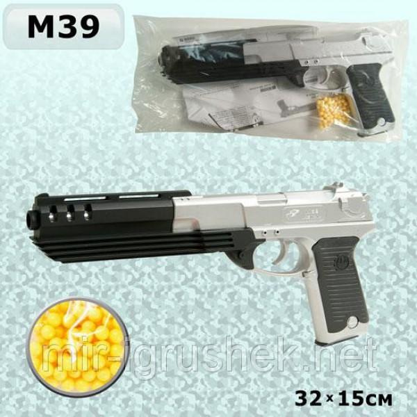 Пистолет черный пульки M39