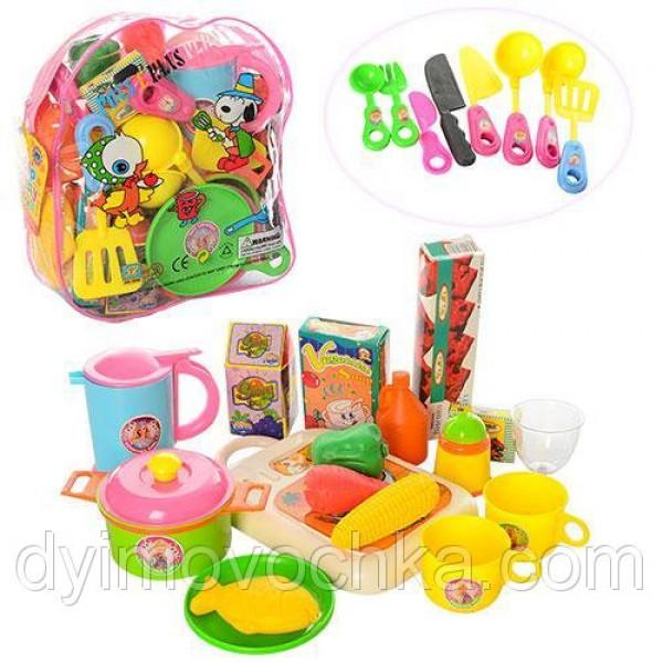 Посуда тарелки, продукты, в рюкзаке 9953