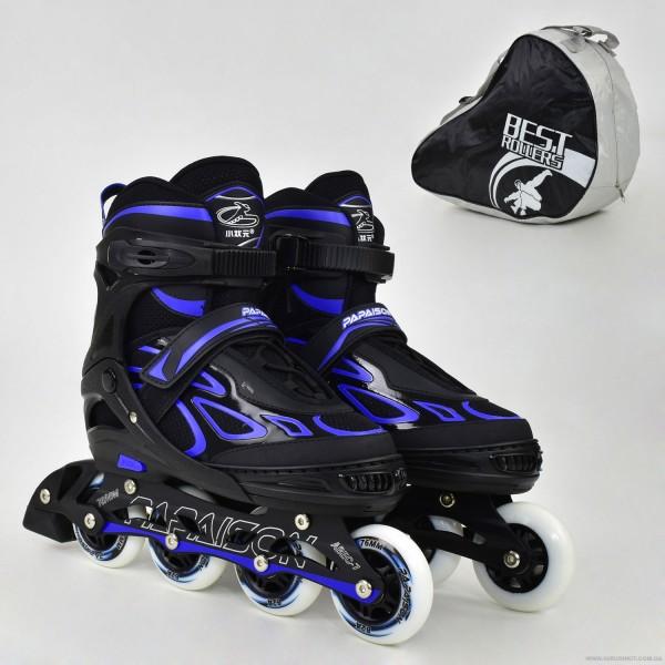 """Ролики 6006 """"L"""" Blue - Best Roller /размер 39-42/ (6) колёса PU, без света, d=7.6см"""