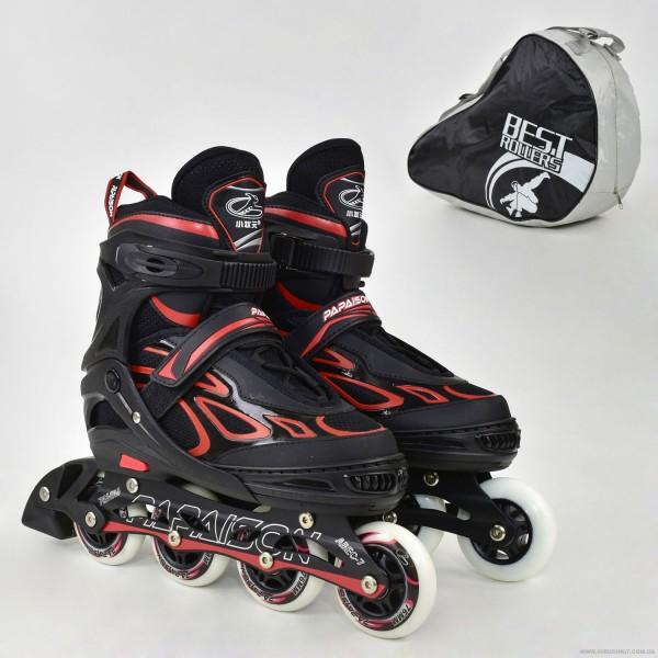 "Ролики 6006 ""L"" Red - Best Roller /размер 39-42/ (6) колёса PU, без света, d=7.6см"
