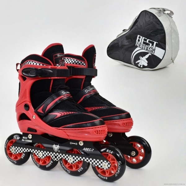 "Ролики 6014 ""L"" Red - Best Roller /размер 39-42/ (6) колёса PU, без света, d=9см"