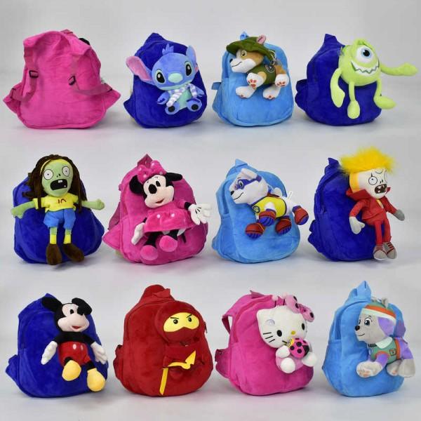 Рюкзак N 00049 мягкий с грушкой (120)